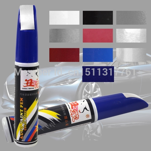 5 pcs Free Shipping Colorful 12ml Professional Car Scratch Remover Repair Touch Up Paint Fix Pen AcXVj(China (Mainland))