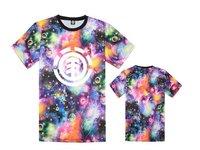 12 styles Galaxy  Element tee shirts star sky with stree short sleeve t-shirts o neck tees men t shirt  free ship
