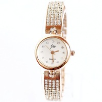 2014 Seconds Kill Watches Relogio Feminino free Shipping Wholesale Fashion Watch Rose Plated Four Rows Women Bracelet Watches
