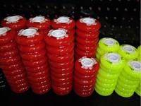 8PCS high elastic PU abrasion flat flowers fruit pulley wheels 72mm 76mm 80mm 85a