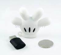 Cute Cartoon Mickey Hand USB 2.0 Flash Drive Pen Pendrive Memory Stick Disk Thumb Car Keychain 4GB 8GB 16GB 32GB 64GB 128GB