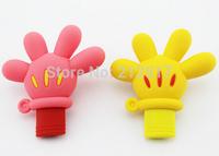 Newest hot Cheap cartoon fancy mickey mouse hand Glove 8GB 16GB 32GB USB Flash Drive 64GB pen drive usb 2.0 drive gift