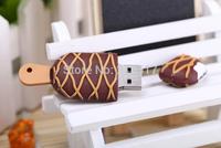 2014 Popular Fashion rubber cartoon ice cream USB flash drive pen drive U disk on key Mini usb memory disk gift flash card