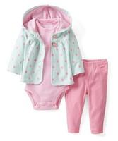 1pcs baby girl's long sleeve suit 2014 autumn carters strawberry hoodies coats+stripe romper 3-piece pants set leisure outfits