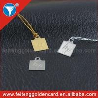 custom bag tags, small custom metal jewelry tag