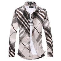 Long sleeve shirt Plus size Men's clothes 100% cotton Thin Casual Fashion Slim Dropshipping New 2014 Autumn