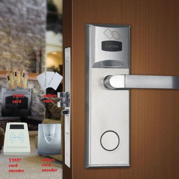 High security Door Key card hotel lock with new design(China (Mainland))