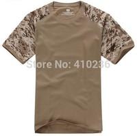 2014 New Summer T-shirt Men Tshirt Round Neck T Shirt Outdoors Coolmax Sport military shirt