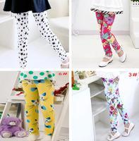Fashion Dotted BABY Girl Autumn Leggings Toddler Kids Pants Fashion Girl Tights Floral Leggings 7-24M 1pc Free shipping DDK-1401