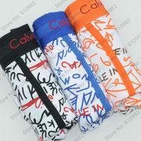 3 pcs/lot Sexy Classic Men's Underwear Cotton Best quality brand Boxers Shorts cueca Mix color Black  Blue Orange