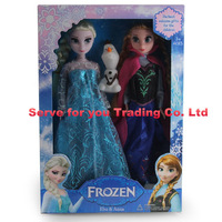 Without Original Box 6 Joint Moveable Frozen Princess11.5 Inch Frozen Doll Elsa and Anna Snow treasure Girl Gifts,free shipping
