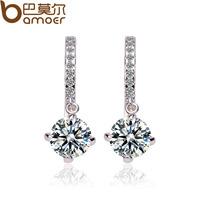 Love doughnut earrings hearts and arrows zircon stud earring platinum female