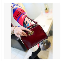 2014 Spring European style new handbags fashion models mini models wild twist lock pouches MINI PU leather handbags wholesale