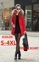 S-4XL 2014 New Ladies Down & Parkas Design Coat Winter Plus SizeJacket Women Outerwear Women Down Jacket Women Parka Top Quality