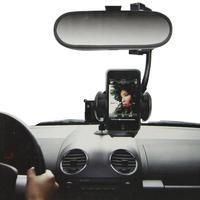 2014 NEW Arrival Car Rearview Mirror Hang Mobile Phone Holder Car Mount Holder Bracket  For Cellphone Mp3 GPS