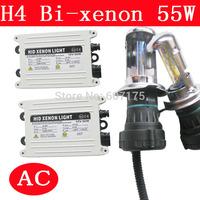 wholesales hid kit h4 bi xenon 12v 55w hid xenon kit h4 hi lo for autohead light high quality h4-3 9004-3 9007-3 h13-3 xenon kit
