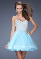 2015 nnew arrival sweetheart short homecoming Dresses Blue homecoming gown Mini prom dresses 2014 Summer Dress
