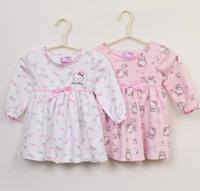 Retail kids girl dress 2014 new summer baby dress Hello Kitty children's clothing cartoon cute infant girl dresses cat