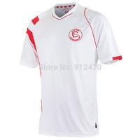 Top Thailand Quality 2014 15 Season White Sevilla Home Soccer Jerseys Futbol Camiseta, Free Shipping