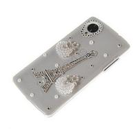 New Fashion 3D Eiffel Tower handmade bling Crystal diamond Mobile phone cover case For LG Nexus 5 E980 2 colors