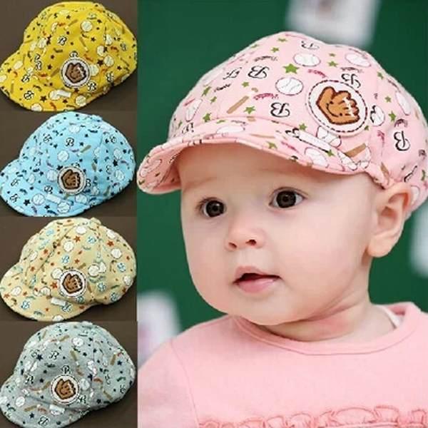 1PCS Kids Baby Girl Boy Summer Hat Toddler Casquette Baseball Beret Cap 3-24 Month Free Shipping(China (Mainland))