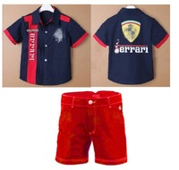 Free shipping! Factory direct sales! Children's clothing 2 piece suit, shirt with Shorts 6 sets of hand batch