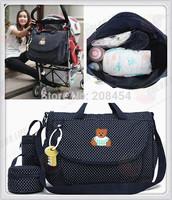 2014 Baby Mather Bag 3-piece set Waterproof High-capacity Mma Mam Mamy Women Maternity Multifunctional tote baby mama bags #35-