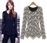 High Quality Free shipping 2014 New Fashion women Plus Size Autumn Winter Blouse S M L XL XXL XXXL Size 8007 cheap ladies shirt