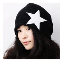 2014 Korean new fall and winter hat head cap wool knitted hat Pentagram sets hip-hop couple cap