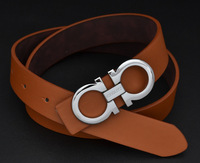 Famous Brand Leather Belt Man Brown 2014 Men Designer Belts Cinto Feminino Couro