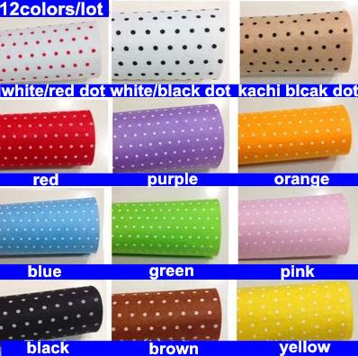 12 colors/lot 30CMX30CM Polka Dot Felt Fabric,Polyester,Non-woven Feltro,1 MM Thick,Handmade Craft Felt DIY Not woven Cloth(China (Mainland))