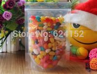 11x18+3cm Stand Storage Bag Transparent PET/PE laminated Resealable stand Bags candy zipper bag 100pcs/lot