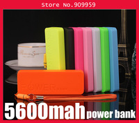 Newest Ultra-thin 5600mah perfume polymer mobile power bank general charger external backup battery pack free usb cable