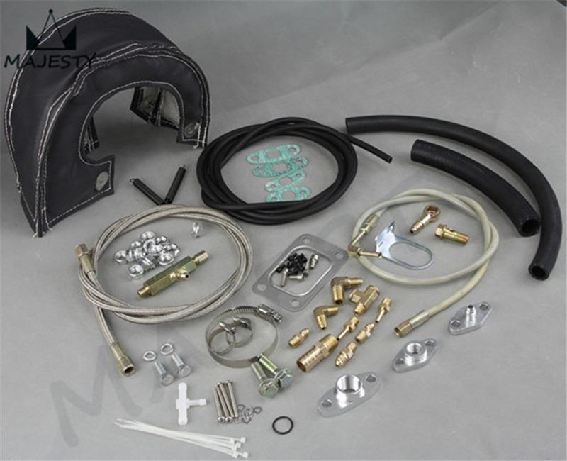 Draining Shield Complete Turbo Oil Line Inlet Drain Return t3 t4 t3 Blanket Heat Shield