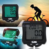 Perfect New Waterproof  LCD BackLight Digital Cycle Bicycle Bike Computer Speedometer Odometer B16 SV005118