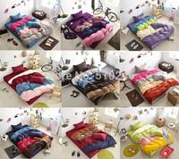 new arrival classic cotton plain solid mixed colors hotel bedding set duvet cover set bedclothes bed sheet set