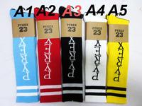 24pcs=12pair 5 Colors Cotton Pyrex vision 23 ayumi GD thin CHB Harajuku Skateboarding Stripe outdoors Sport Socks 24pcs/lot