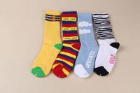 24pcs=12 pair NEW Mixed style Cotton zebra stripe cloud towel thicken bottom plantlife skateboarding sport socks 12pair/lot