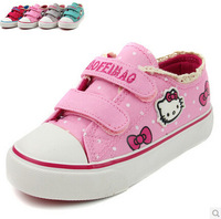 Free shipping Children's shoes  girls shoes canvas  2014 Korean version  hello kitty shoes kids shoes summer