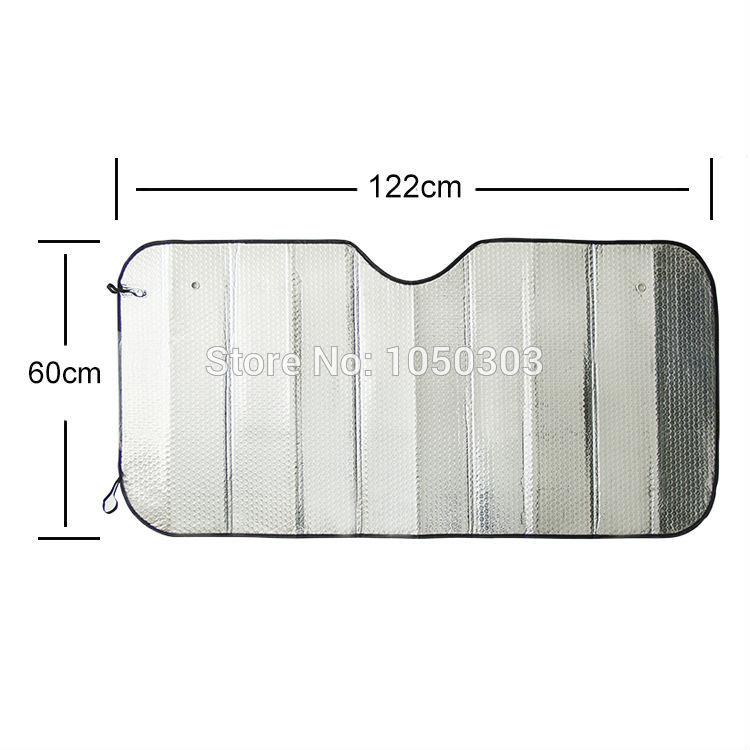 Double-thick Aluminium Foil Sun Shade Sunblock Car Window Windshield Visor Cover Free Shipping(China (Mainland))