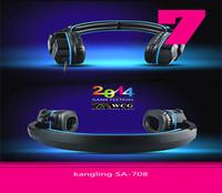 wholesale 30pcs/lot Headphone KL SA-708 Game Headset  With Mega Bass Fashion High Quality Free Shipping