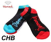 24pcs=12pair NEW Cotton DGK Diamond supply co thicken bottom plantlife skateboarding outdoors sport anklet socks 24pcs/lot