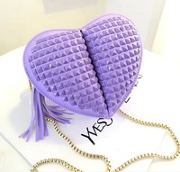 Big sales,New 2014 fashion bags ,Special  new  lovely handbag shoulder bag cartoon heart package,free shipping  4 colors 27#