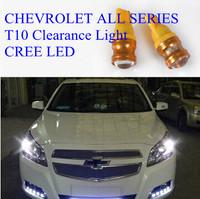 Universal T10 Clearance Lights Captiva/AVEO/CRUZE CREE LED Marker Lamps 12V 5W Red/Blue/Green/Yellow/White option 2pcs/lot