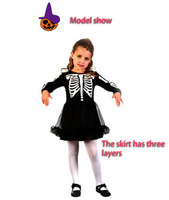 2014 Carnival Halloween Kids Witch Skirt  Party Festival Cosplay Costume All For Children Clothing And Accessories