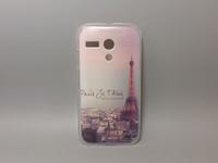 wholesale 10pcs/lottransparent side cover species Painted Hard Plastic Phone Case for Motorola MOTO G dvx XT1028 XT1032 XT1031