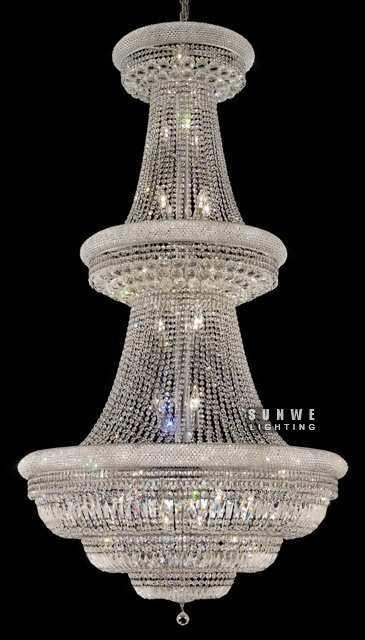 In metallo cromato lampadario apparecchio, bella camera lampadario illuminazione, moderna illuminazione lampadario di cristallo, a9262,107 centimetri w x 193 centimetri h