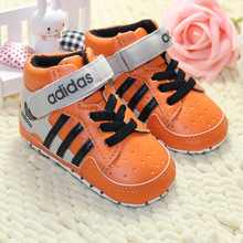 The colorful high help Spring and autumn composite Soft sole 0-1 years baby Sports shoes  Casual Toddler shoes(China (Mainland))