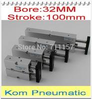 "TN / TDA Mini Air Cylinders , Bore 32mm Stroke 100mm Double Rod Pneumatic Air Cylinder ,1/8"" Port Size , TN 32-100MM TDA 32-100"
