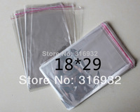 Clear Resealable Cellophane/BOPP/Poly Bags 18*29cm  Transparent Opp Bag Packing Plastic Bags Self Adhesive Seal